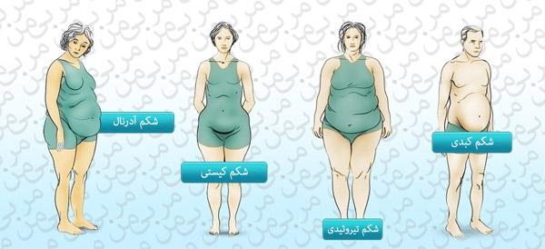 علائم پزشکی منجر به چربی شکم